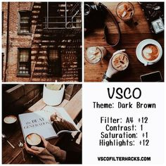 Taught you how to use filters VSCO been transferred out of the most popular low-key fashion color of cocoa (DARKBROWN) photos of the year let your IG suddenly become unique! Instagram Feed Vsco, Instagram Bio, Fotografia Vsco, Vsco Hacks, Photo Hacks, Photo Ideas, Vsco Effects, Vsco Feed, Best Vsco Filters