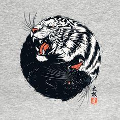 tiger art - Taichi Tiger by Steven Toang metal posters Japanese Tattoo Art, Japanese Tattoo Designs, Japanese Art, Japanese Prints, Japanese Sleeve, Tiger Illustration, Japon Illustration, Tiger Poster, Samurai Art