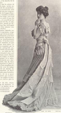 1901, Septembre - Les Modes Paris - Dinner dress by Rouff