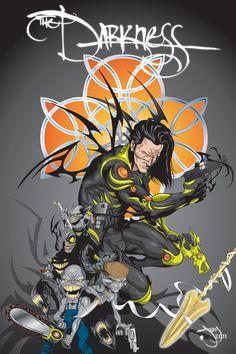#Darkness #Fan #Art. (The Darkness) By: JOEYDES. (THE * 5 * STÅR * ÅWARD * OF: * AW YEAH, IT'S MAJOR ÅWESOMENESS!!!™) ÅÅÅ+