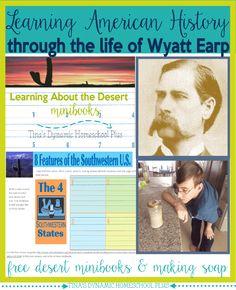 Free Unit Study. Learning American History through the Life of Wyatt Earp Part 2 @ Tina's Dynamic Homeschool Plus