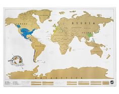 Oh my goodness.... a scratch off map!  I could scratch lines from my road trips, and countries as I visit them! This would be the best! $24