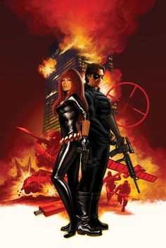 Black Widow & The Winter Soldier by Steve Epting