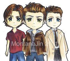 Supernatural Trio by Montanajin.deviantart.com