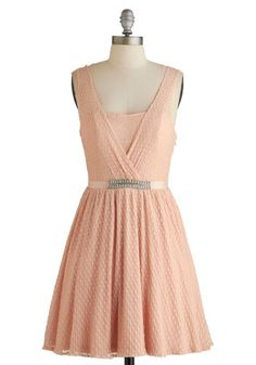 Cherish the Chance Dress - Pink, Solid, Rhinestones, Special Occasion, Prom, Party, Pastel, Sleeveless, Summer, Woven, Better, A-line, Mid-length #modcloth