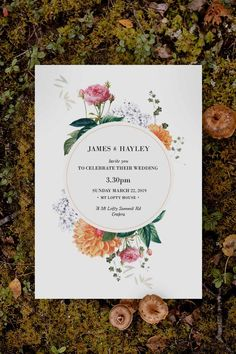 Stunning orange and pink floral Wedding Invitation by Sail and Swan Studio. The design features peach dahlia flowers, with pink roses, hydrangeas and other botanical elements. Bohemian Wedding Theme, Bohemian Wedding Inspiration, Dahlia Flowers, Pink Roses, Mexican Themed Weddings, Fiesta Decorations, Botanical Wedding Invitations, Peach Orange, Hydrangeas
