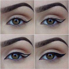 Cum sa trasezi linia perfecta de eyeliner. #perfecteyeliner