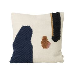 Buy the Loop cushion by ferm Living in the Connox design shop. Printed Cushions, Cushions On Sofa, Design Shop, Duvet, Muuto, Design Bestseller, Living Room Remodel, Weaving Techniques, Decorative Throw Pillows