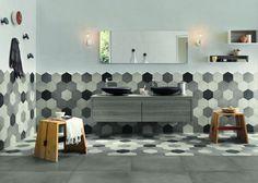 Da pavimento o parete, le piastrelle di forma esagonale fanno oggi tendenza in tutti gli ambienti della casa.