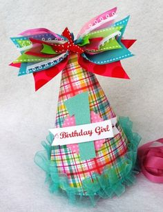 Birthday Girl Hat! to match her dress!!! Same owl and number one appliqued to hat?