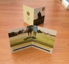 Our golf themed wedding save-the-date card. We're going FORE it!