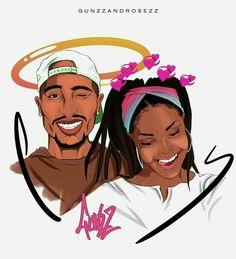Couple In Love Cartoon Art Black Couple Art, Black Love Art, Black Girl Art, Art Girl, Dope Cartoon Art, Black Girl Cartoon, Dope Cartoons, Arte Do Hip Hop, Hip Hop Art