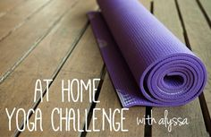 At Home Yoga Challenge - join and get your weekly schedule! #yogachallenge