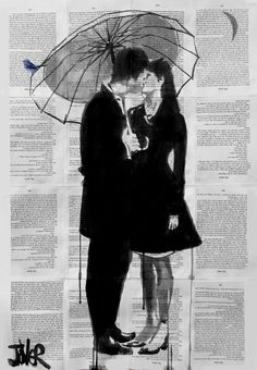 """A Little Bird, A Little Moon And A Little Love"" by Loui Jover"
