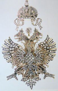 A Russian made Romanov Imperial double-headed eagle brooch.