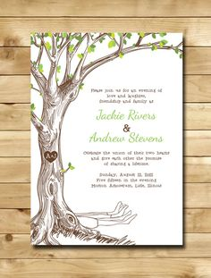 The Giving Tree Wedding Invitations Sample by nmiphotocreations