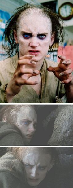 Gollum-Frodo: A deleted scene in The Two Towers of Faramir's vision of what might become of Frodo if the Ring took hold of him. -- Something Frodo had already recognized and that Sam could never understand because he could never look at his beloved master and see a broken monster.