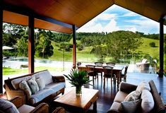 Bali meets the Australian Farm House .Ridgewood, Australia A project by: Paul Hindes Architecture post project on Facebook. About A Balinese reso...