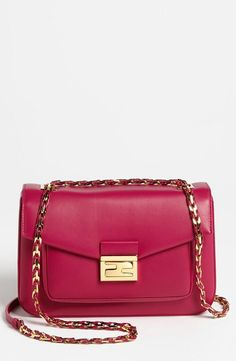 FENDI | Red plus a touch of gold is perfect for fall. |=