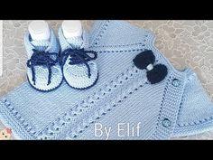 YAKADAN BAŞLAMALI YANDAN DÜĞMELİ BEBEK YELEĞİ YAPIMI VİDEOLU 2018 yakadan başlamalı bebek yelekleri severlerin mutlaka ama mutlaka kaçırmaması gerektiğini düşündüğüm ve görenlerinde gözlerini alamayacağı bu Yakadan Başlamalı Yandan Düğm.. Baby Knitting Patterns, Baby Sweater Knitting Pattern, Knitted Baby Cardigan, Hand Knitting, Knitting Videos, Crochet Videos, Diy Crochet, Crochet Baby, Diy Crafts Knitting
