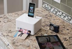 Smartphone Photo Cube Printer @ Sharper Image