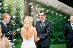 wedding ceremony - photo by Sarah Rose Burns Photography http://ruffledblog.com/colorado-wedding-under-the-super-moon