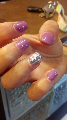 Fun Bright Summer #NailArt All done with EOCC Gel Enamel Purple Sunglasses main Color #naildepartment