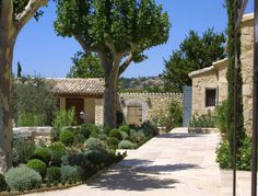 Newly built houses in the Luberon : A Provencal Mas made of stone - A. Nelson Architect, Landscape in Provence, France Provence Garden, Provence Style, Provence France, Landscape Design, Garden Design, Landscape Architecture, Mediterranean Homes, French Country House, French Farmhouse