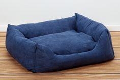 Luxury Swaddlez Bolster Pet Beds - Denim