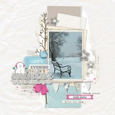 #papercraft #scrapbook #layout - Winter evening by Arte Banale at @studio_calico