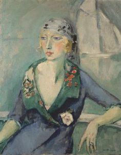 KEES VAN DONGEN (1877-1968) | La femme au foulard Painting in 1921 | 20th Century, Paintings | Christie's