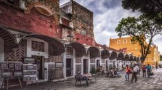 Barria del Artista - The street Barria del Artista in Puebla, Mexico, where several painters have their studios.