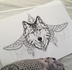 Wolf Under bust Tattoo by Medusa Lou Tattoo Artist - medusaloux@outlook.com