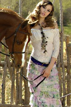 Marrika Nakk Sexy Tee - ☮k☮ Western Look, Western Chic, Western Wear, Cowgirl Dresses, Bohemian Style, Boho, Evolution Of Fashion, Cowgirl Style, Cowgirl Fashion
