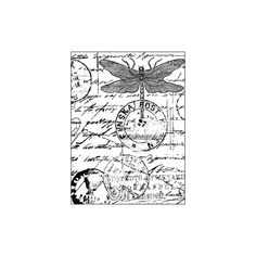 Blade Rubber Stamps Unmounted Sheets of Rubber stamps Crafty... (11 CAD) ❤ liked on Polyvore featuring backgrounds, butterflies, words, writing, art and effects