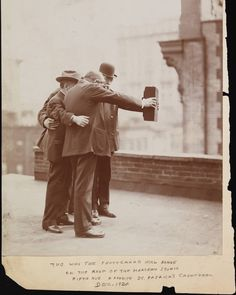 In December 1920 photographers gathered on the rooftop of Theodore Marceau's studio in New York City and captured what some consider the world's first true selfie. Joseph Byron held the camera with his right hand while Ben Falk supported it with his left.  Discover how we've documented ourselves over the ages at our upcoming exhibition with Huawei Mobile 'From Selfie to Self-Expression', opening 31 March.  Photograph © Museum of the City of New York