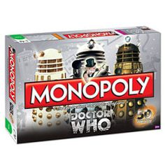 Monopoly Doctor Who Anniversary Collector's Edition Board Game. there is always time for doctor who monopoly! Doctor Who, Dr Who, Tardis, The Walking Dead, Monopoly Game, Monopoly Board, Cheap Christmas Gifts, Christmas Ideas, Dark Christmas