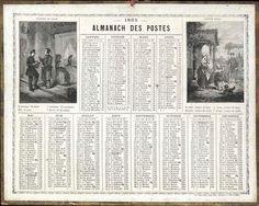 Almanach des Postes 1865