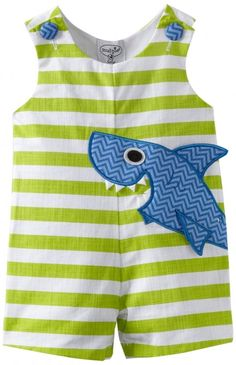 Mud Pie Baby-boys Newborn Boathouse Shark Shortall, Green/Blue, Months - An… Little Boy Outfits, Baby Boy Outfits, Baby Outfits Newborn, Baby Boy Newborn, Outfits Niños, Kids Outfits, Sewing For Kids, Baby Sewing, Baby Boy Fashion