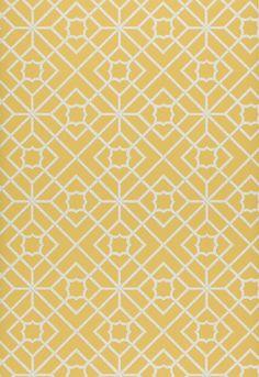 "Luan Fretwork Yellow      Wallcovering SKU - 5000383     Match - Straight     Width - 27""     Horizontal Repeat - 9""     Vertical Repeat - 9"""