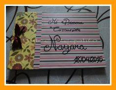 Libro de firmas y/o álbum de fotos comunión. Ideal para regalar y que la pequeña, o el pequeño, recuerde su gran día.