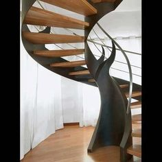 Tree Trunk Modern Spiral Stairs