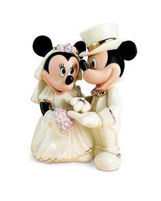 Noivinhos Para Bolo De Casamento - Porcelana Lenox - Disney - R$ 360,00 no MercadoLivre