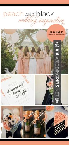 Neat - The wedding color trend we're loving this week? Peach and black! | CHECK OUT THESE OTHER AWESOME INSPIRATIONS FOR NEW WEDDING TRENDS 2016 AT WEDDINGPINS.NET | #weddingtrends2016 #trendywedding #new #2016 #weddings #weddingvows #vows #tradition #nontraditional #events #forweddings #iloveweddings #romance #beauty #planners #fashion #weddingphotos #weddingpictures