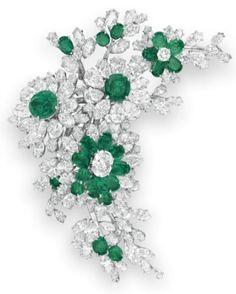 Elizabeth Taylor's Bulgari emerald and diamond brooch.