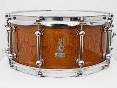 14 x 6.5 BRADY Jarrah Ply / Silky Oak gloss snare drum.