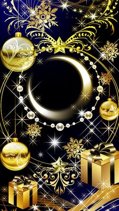 Yule Gold Moon Wallpaper…By Artist Unknown… Yule Gold Moon Wallpaper … Von Artist Unknown … Gothic Wallpaper, Lit Wallpaper, Locked Wallpaper, Galaxy Wallpaper, Cellphone Wallpaper, Wallpaper Backgrounds, Iphone Wallpaper, Christmas Lights Wallpaper, Purple Flowers Wallpaper