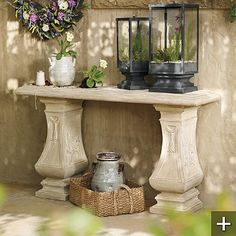 1000 Images About Stone Console Table On Pinterest