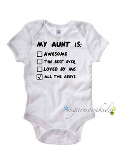 Aunt Baby Onesie. $17.00, via Etsy.... @Dana Curtis Curtis Curtis Curtis Curtis McLaughlin , @Whitney Clark Clark Clark Clark Clark Gaouette