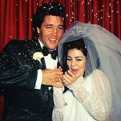 For our wedding gallery Priscilla and Elvis on their wedding day 1968.